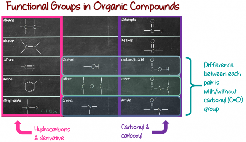 Organic compounds functional groups introduction